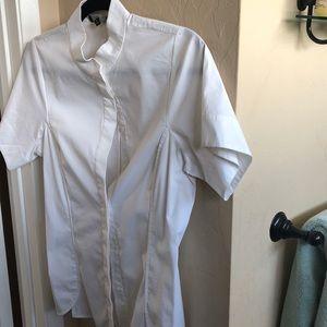 LaFayette 148 white blouse